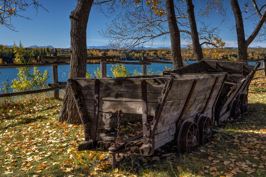 Heritage Park mining cart