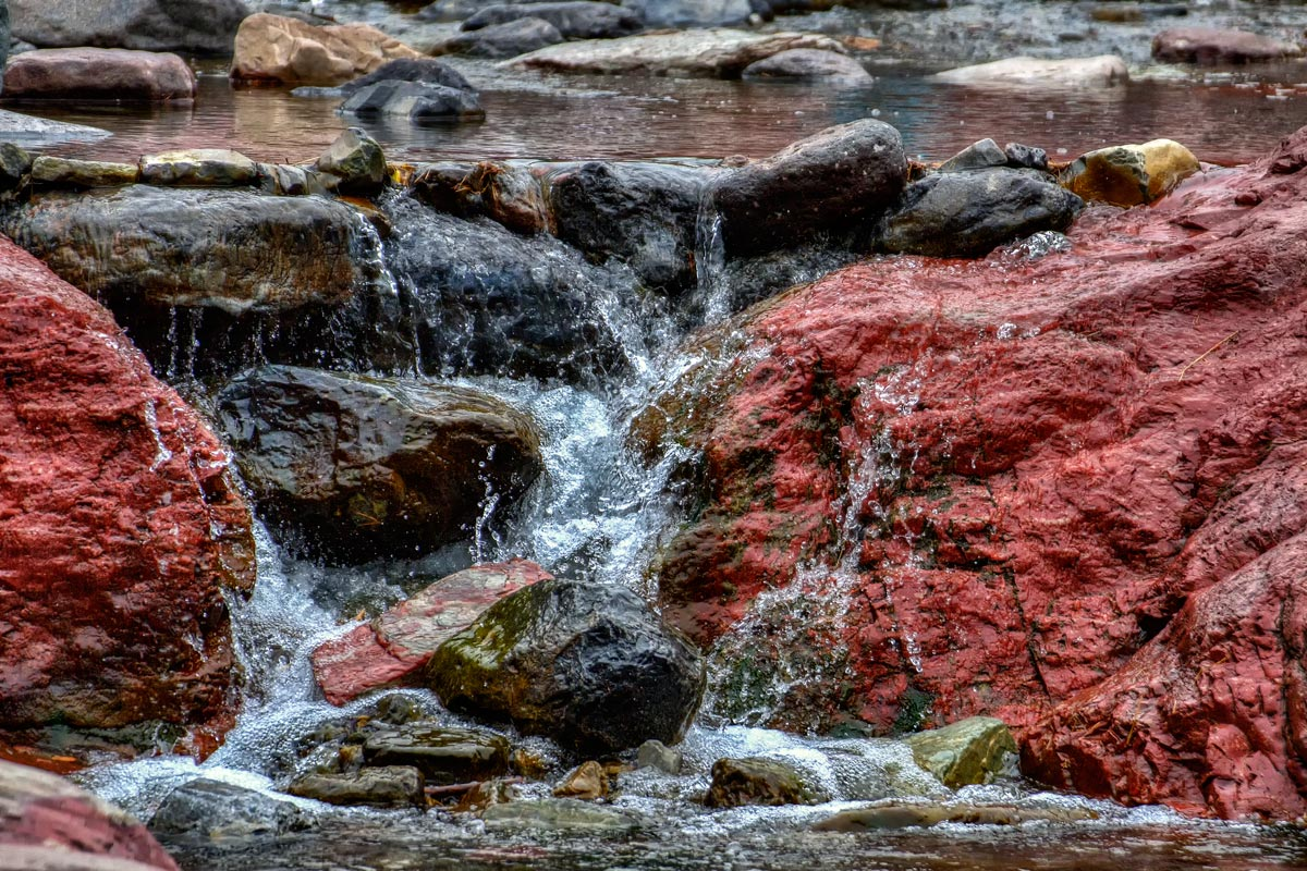 a tine falls in red rock canyon