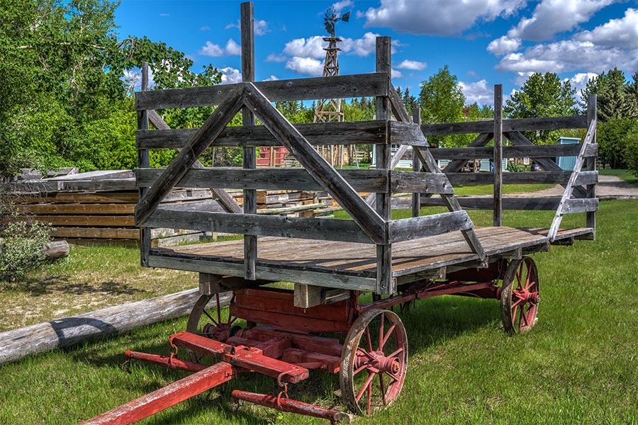 old farm cart