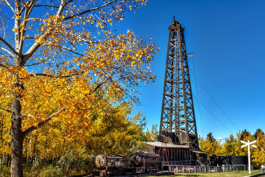 drill rig used in Alberta
