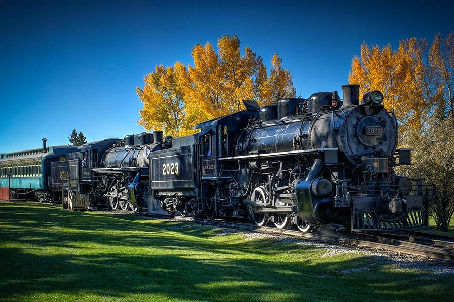 old steam train at Heritage Park